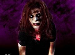 Fonds d'écran Fantasy et Science Fiction Mylène Farmer en zombie pour Halloween 3