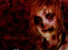 Fonds d'écran Fantasy et Science Fiction Mylène Farmer en zombie pour Halloween 5
