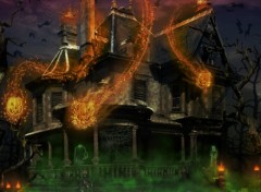 Wallpapers Digital Art haunted halloween