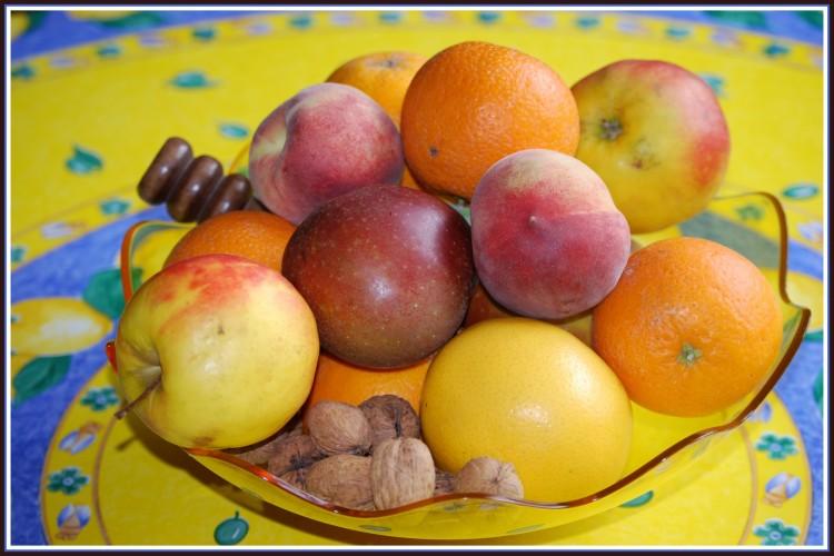 Wallpapers Nature Fruits Coupe de fruits