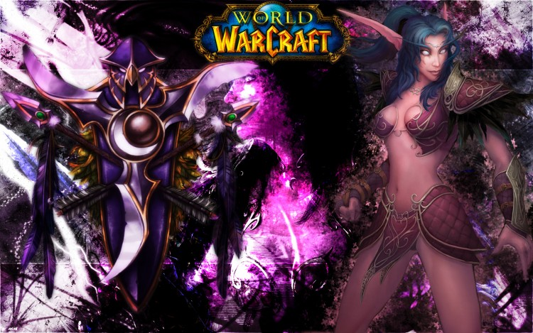 Wallpapers Video Games World of Warcraft elf de la nuit smudge 2