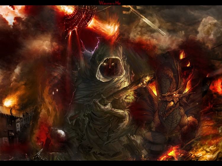 Wallpapers Fantasy and Science Fiction Demons - Hell Welcome To Hell