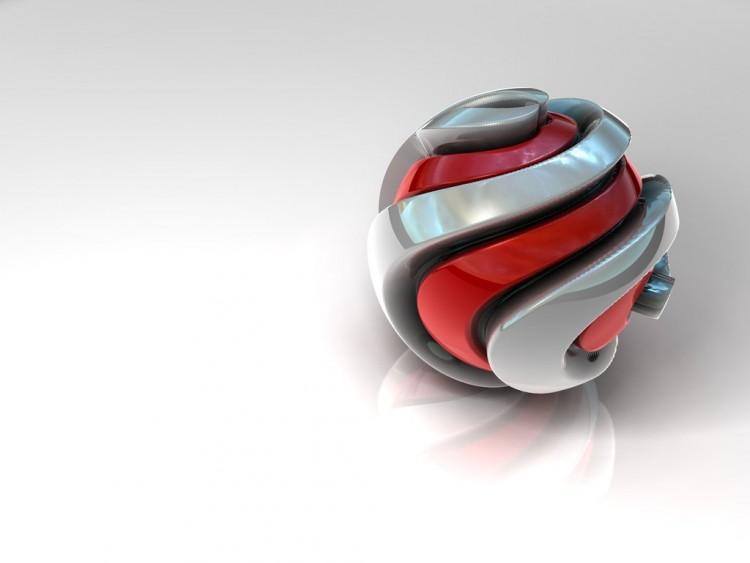 Wallpapers Digital Art 3D - Various Spiral Ball