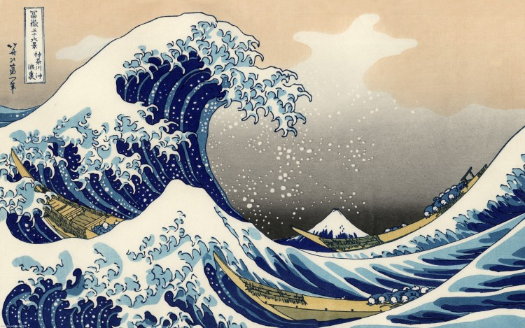 Fonds d'écran Art - Peinture Paysage Marin The Great Wave of Kanagawa