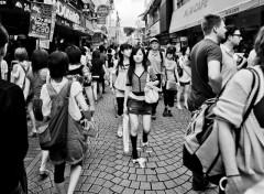 Fonds d'écran Voyages : Asie Passants dans une rue japonaise