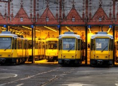 Fonds d'écran Transports divers Dépot de trams à Berlin