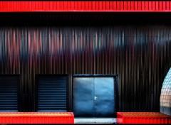 Wallpapers Constructions and architecture Entrepot rouge et noir