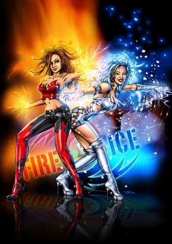 Wallpapers Digital Art Characters Fire & Ice