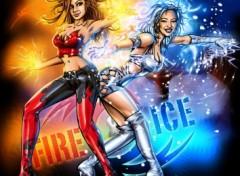 Fonds d'écran Art - Numérique Fire & Ice