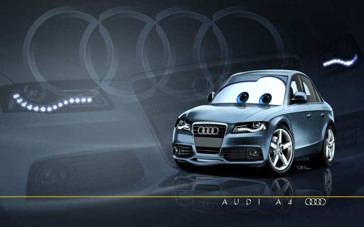 Wallpapers Cartoons Cars 1 and 2 Pixarized Audi A4