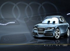 Fonds d'écran Dessins Animés Pixarized Audi A4