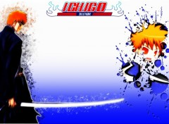 Fonds d'écran Manga Ichigo bleach Splatter smudge