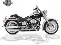 Fonds d'écran Motos Harley-davidson  : reflet