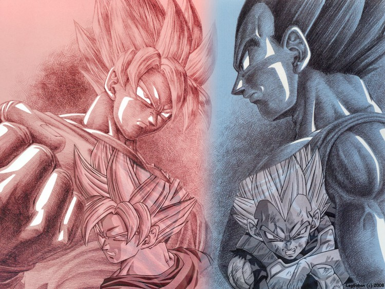 Fonds d'écran Manga Dragon Ball Z Son Goku VS Vegeta