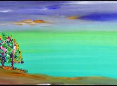 Fonds d'écran Art - Peinture Noel Sur Mars