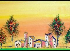 Fonds d'écran Art - Peinture Le Village de L'amour