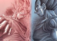 Fonds d'écran Manga Goku & Vegeta version simple