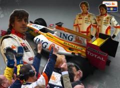 Fonds d'écran Voitures ING Renault F1 team 2009