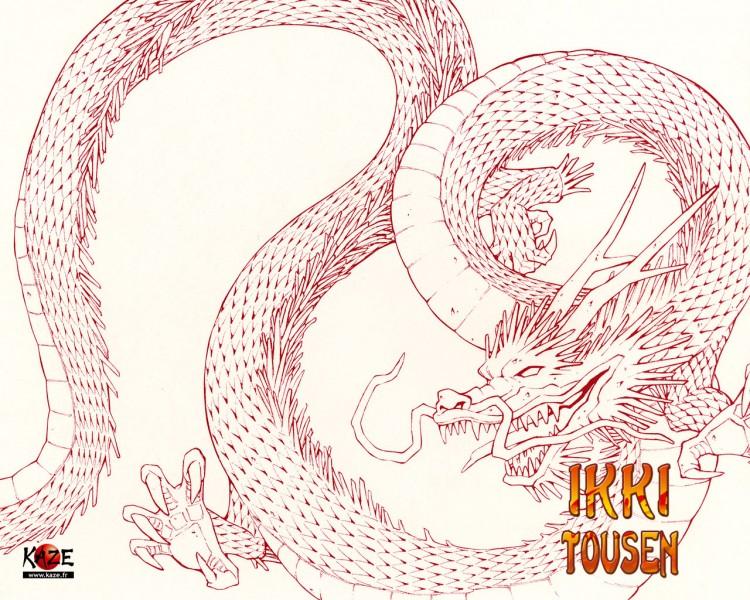 Fonds d'écran Manga Ikkitousen Dragon Destiny Dragon