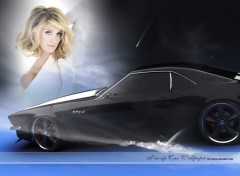 Wallpapers Cars pin-up mustang