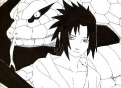 Fonds d'écran Art - Crayon Sasuke