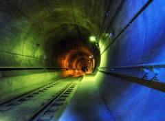 Wallpapers Constructions and architecture Couleurs dans un tunnel