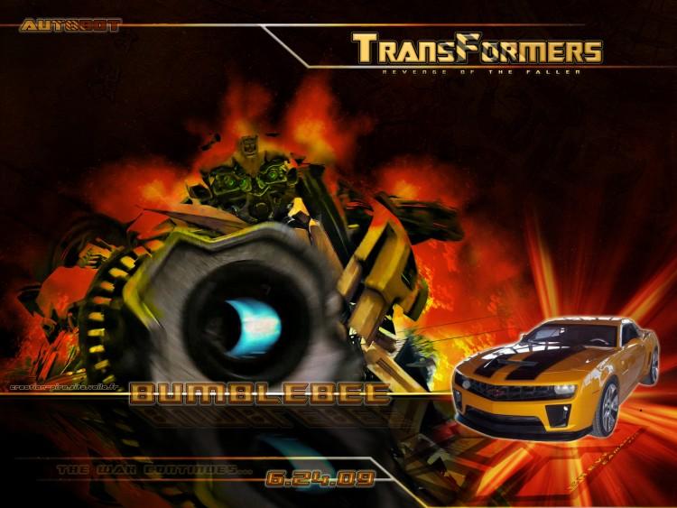 Fonds d'écran Cinéma Transformers- La Revanche Bumblee_Chevy Camaro2010