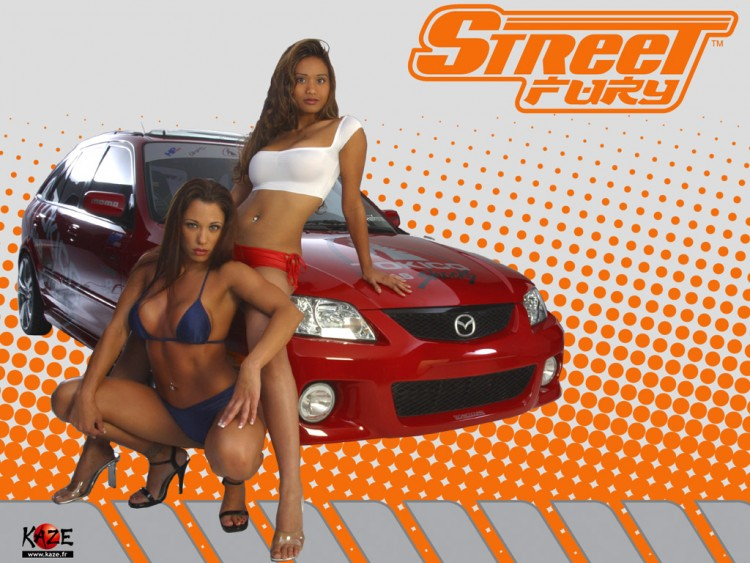 Wallpapers Cars Girls and cars street fury