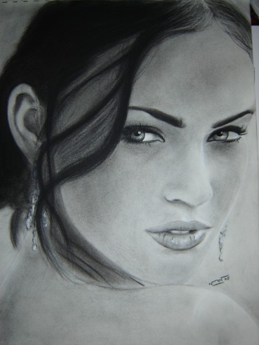 Fonds d'écran Art - Crayon Portraits Megan Fox