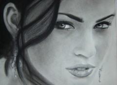 Fonds d'écran Art - Crayon Megan Fox