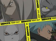 Fonds d'écran Manga !!!KEEP OUT!!! < Black * Star & Mifune > !!!KEEP OUT!!!