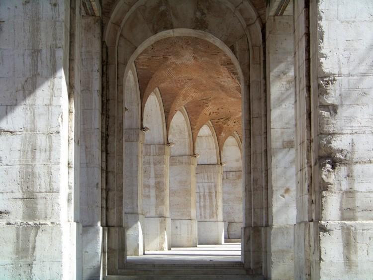 Fonds d'écran Constructions et architecture Portes - Fenêtres - Porches Arcade en face du Palais d'Aranjuez. Madrid.