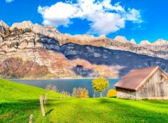 Wallpapers Nature   landside   mountain   mountains   lake