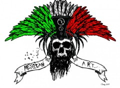 Fonds d'écran Art - Numérique Moctezuma`s Skull