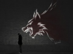 Wallpapers Digital Art wolf wall
