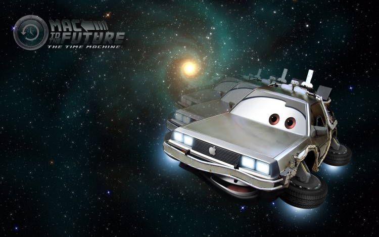Wallpapers Cartoons Cars 1 and 2 Mac to the Future