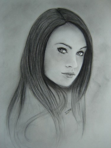 Wallpapers Art - Pencil Portraits Megan Fox 1