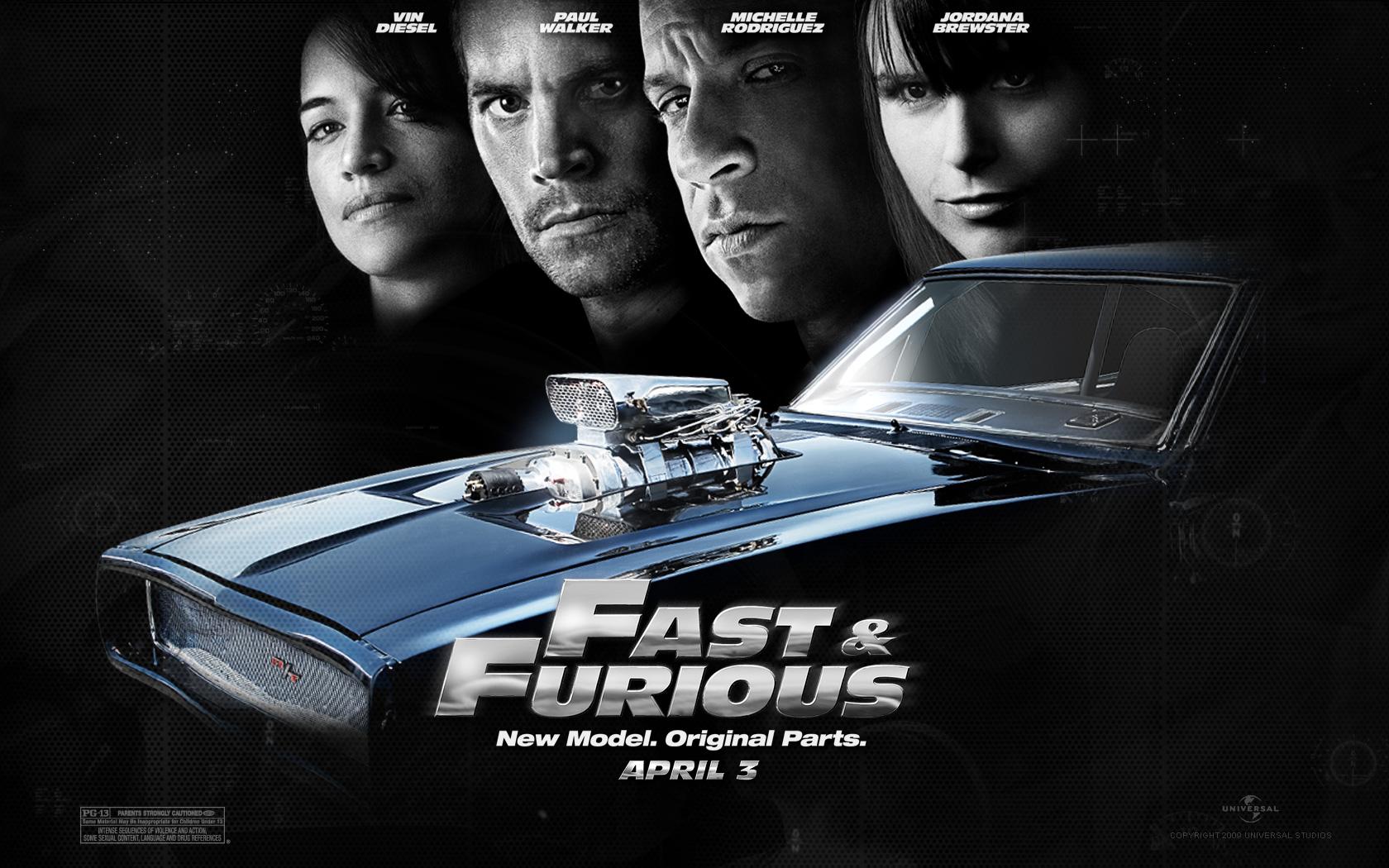 Fonds d'écran Cinéma Fast and Furious 4