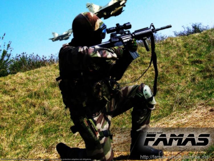 Fonds d'écran Sports - Loisirs Airsoft FAMAS AIRSOFT TEAM - nightcyborg