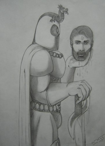 Wallpapers Art - Pencil Fantasy - Knights Chevalier sans tête