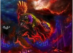 Fonds d'écran Art - Numérique Rising Wolf