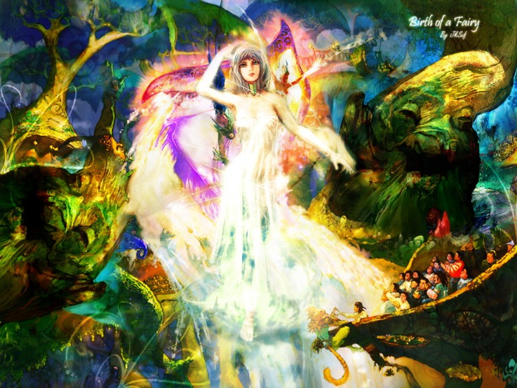 Wallpapers Fantasy and Science Fiction Fairies Birth Of Fairy