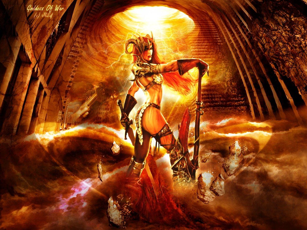 Wallpapers Fantasy and Science Fiction Gods - Goddesses Goddess of War