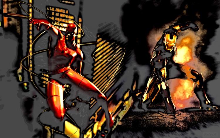 Fonds d'écran Comics et BDs Daredevil Daredevil & Iron Man