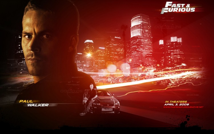 Wallpapers Movies Fast and Furious 4 paul Walker F-F 4