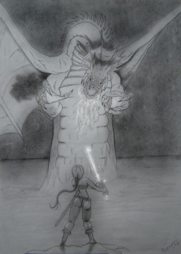 Wallpapers Art - Pencil Fantasy - Dragons Dragon