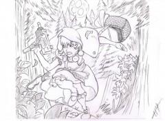 Fonds d'écran Art - Crayon le petit chaperon rouge