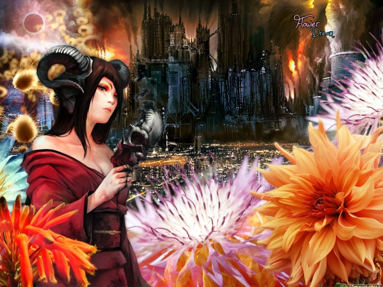 Wallpapers Fantasy and Science Fiction Fantasy Landscapes Flower dream