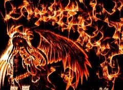 Fonds d'écran Manga Ange enflammé