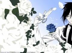 Fonds d'écran Manga rose blanche